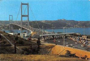 Turkey Istanbul The view of Bosphorus Bridge, Beylerbeyi village