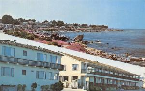 Pacific Grove CA~Borg's Ocean Front Motel~Vending Machine~Telephone Booth~1960s
