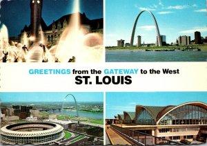 Missouri St Louis Showing Union Station Gateway Arch Busch Memorial Stadium a...