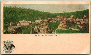 1910s Hot Springs, Arkansas Postcard Bird's-Eye Panorama Heart of Hot Springs