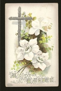 Postmarked 1911 Allandale Ont A Joyous Easter Embossed Color Postcard