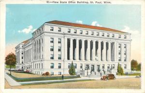 St Paul Minnesota~New State Office Building~1936 Postcard