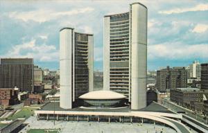 TORONTO, Ontario, Canada, 1940-1960's; Toronto City Hall And Nathan Phillips ...