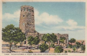 Grand Canyon National Park , 1930-40s ; Watchtower , Fred Harvey H-4219