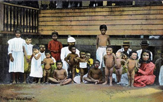 ETHNIC GROUP OF PEOPLE POSING - 1910s - Probably CUBA / Young children