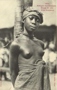 CPA Senegal Ethnic Nude Fortier - 1441. Étude N 120 Fille Soussou (71008)