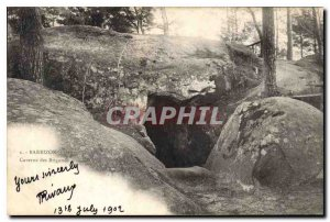Postcard Old Barbizon Cave of Robbers