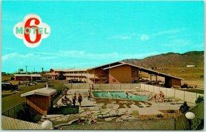 Albuquerque, New Mexico Postcard MOTEL 6 Highway 66 Roadside Central Ave. c1970s