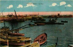 CPA AK CASABLANCA Le Port MAROC (824616)