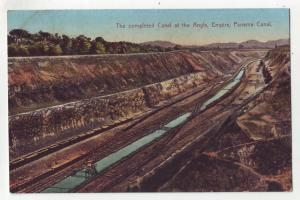 P689 JLs old card panama,the building completed canal at angle empire canal