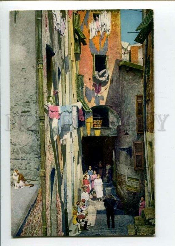 3106128 FRANCE Menton Rue Massoni native people Vintage PC