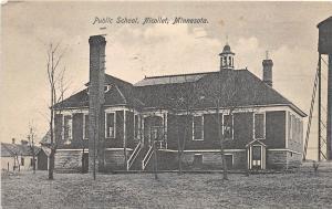 B70/ Nicollet Minnesota Mn Postcard 1916 Public School Building