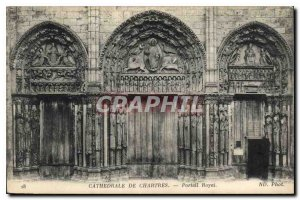 Postcard Old Cathedral of Chartres Royal Portal
