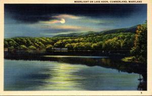 Maryland Cumberland Moonlight On Lake Koon