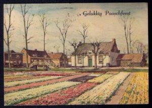 1940 Netherlands Postcard Sc #216,217 Gelukkig Paaschfeest Happy ...
