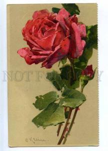 187647 Belle Huge ROSE Flower by C. KLEIN vintage GOM PC