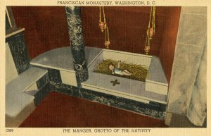 DC - Washington. Franciscan Monastery. Grotto of the Nativity, Manger