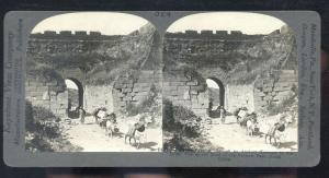 REAL PHOTO NANKOW PASS NORTHERN CHINA CHINESE GATE STEREOVIEW CARD