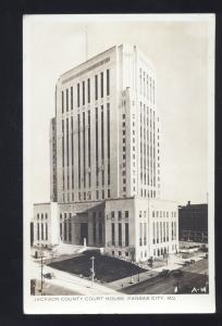 RPPC KANSAS CITY MISSOURI JACKSON COUNTY COURT HOUSE VINTAGE REAL PHOTO POSTCARD