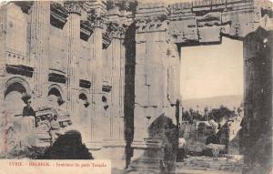 BALBECK Baalbek LEBANON Beyrouth Syria Turkey Postcard c'10 Petit Temple B8