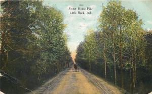 Little Rock Arkansas~Horse & Buggy on Sweet Home Pike~1909 Postcard