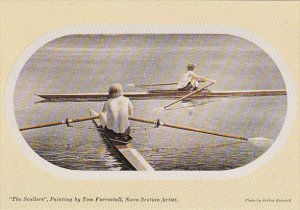 The Scullers by Tom Forrestall Nova Scotian Artist