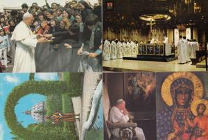 Pope John Paul II Italian Italy 4x Postcard