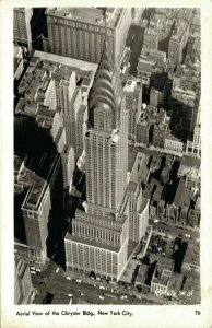 USA Aerial View of the Chrysler Building New York City RPPC 03.71