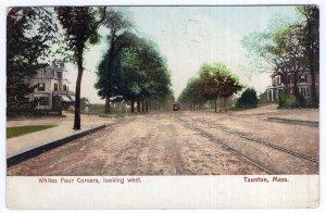 Taunton, Mass, Whites Four Corners, looking West