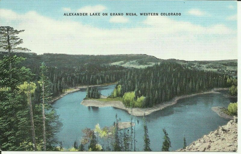 Alexander Lake On Grand Mesa, Western Colorado