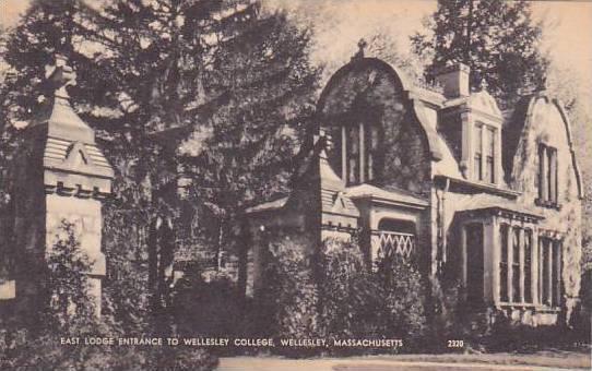 Massachusetts Wellesley East Lodge Entrance To Wellesley