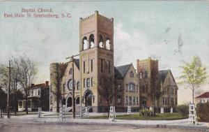 Baptist Church , East Main Street , Spartanburg , South Carolina , PU-1907