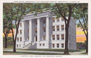 SPRINGFIELD, Illinois; Home Office, Life Insurance Company, 30-40s
