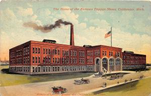 C9/ Coldwater Michigan Mi Postcard 1912 Famous Tappan Shoe Factory Sycamore Ohio