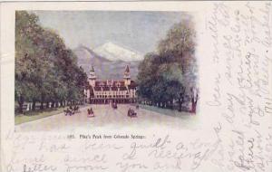 Colorado Colorado Springs Pikes Peak From Colorado Springs 1906