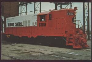 Illinois Central 8109 Paducah Kentucky GP9 Locomotive Train Railroad Postcard
