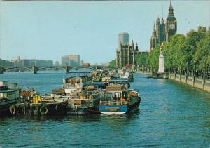 England London The River Thames and Victoria Embankment
