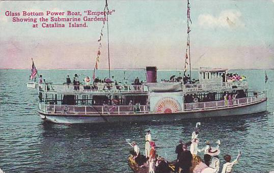 Glass Bottom Power Boat, Emperor, Showing The Submarine Gardens at Catalina...