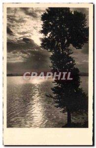 Old Postcard Landscape Sunset