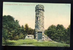 Auburndale, Massachusetts/MA/Mass Postcard, Tower At Norumbega Park