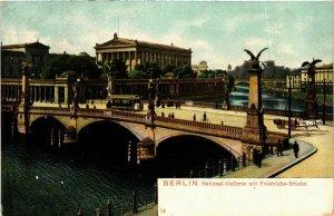 CPA AK BERLIN Nationalgalerie u. Friedrichsbrücke GERMANY (973499)