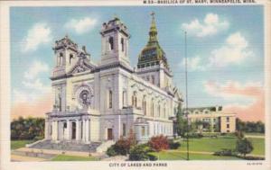 Church Basilica Of St Mary Minneapolis Minnesota Curteich