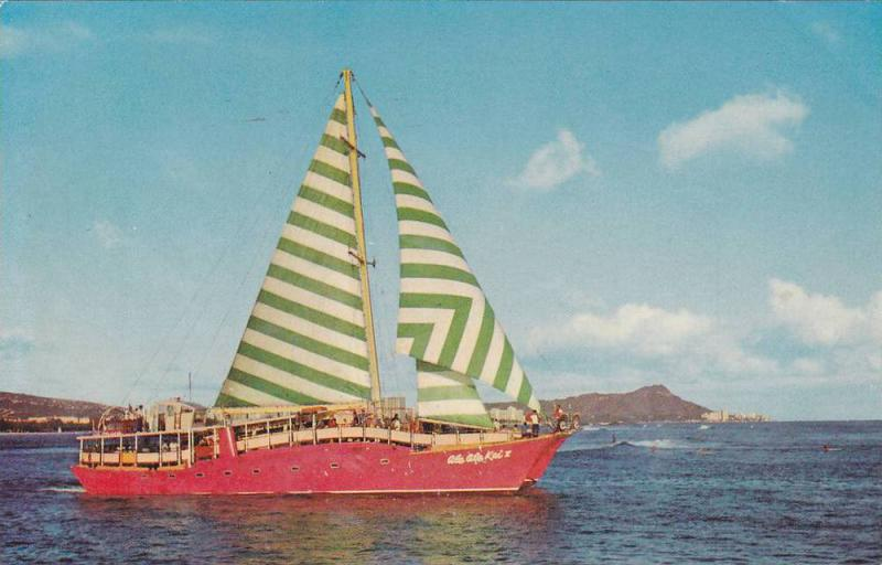 Sailboat, Colorful Catamaran Ale Ale Kai V Featuring Daily Pearl Harbor Cruis...