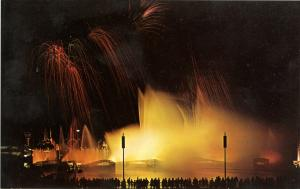NY - New York World's Fair, 1964-65. Fireworks & Fountain of Planets