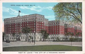 Hotel Chase, St. Louis, Missouri, Early Postcard, Unused