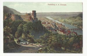 Germany Heidelberg from the Terrasse Vintage Fischer Kramer Postcard c 1910