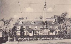 Philipse Manor Hall & Civil War Monument , YONKERS , New York , 20-30s
