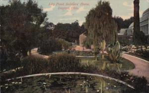 Ohio Dayton Lily Pond At Soldiers Home 1914