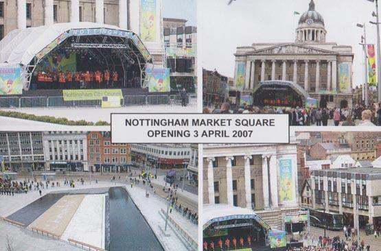 Nottingham Market Opening Concert Council Bandstand 2007 Official Rare Postcard
