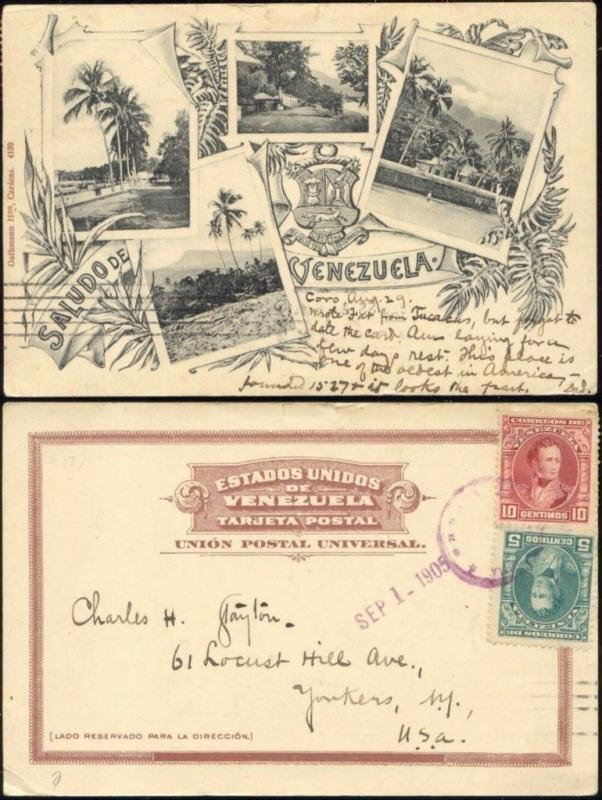 venezuela, CORO, Multiview with Landscapes (1905) Stamps